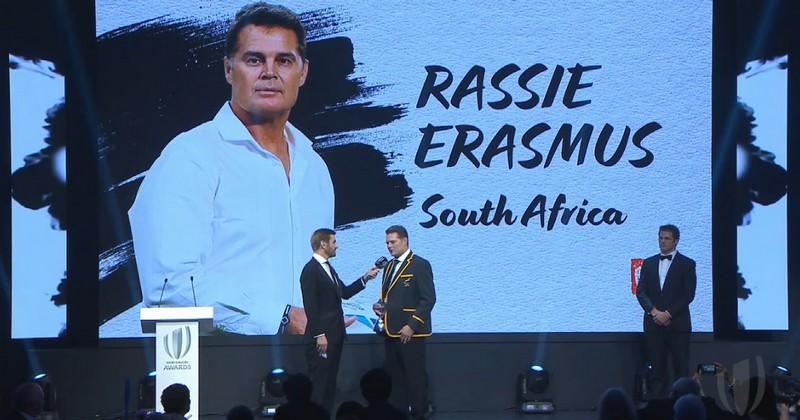 Le Sud-Africain Rassie Erasmus élu Entraîneur World Rugby de l'Année
