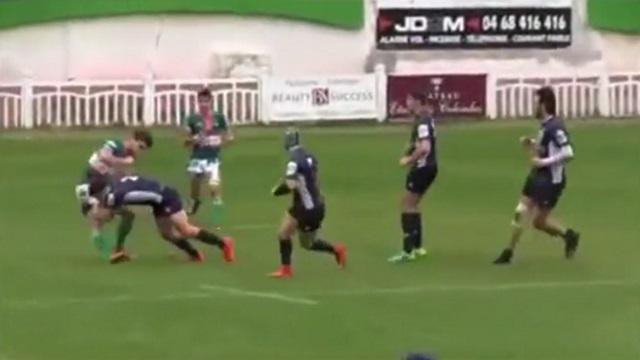 VIDEO. Rugby Amateur #101 : un Junior du TO XIII distribue une belle cartouche à son adversaire