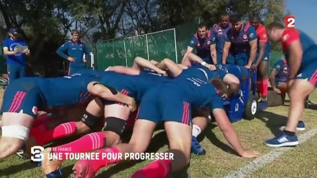 VIDEO. En immersion avec le XV de France pour sa première semaine en Afrique du Sud