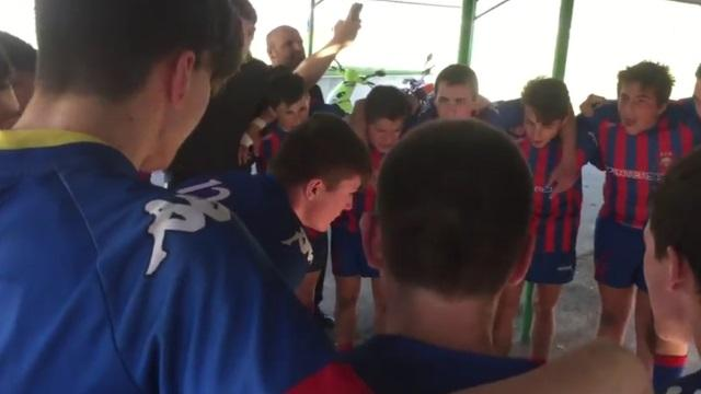 VIDEO. Rugby Amateur : l'écrevisse, le chant des M16 du Rugby Club Dignois