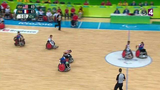 VIDEO. Rio 2016 - L'équipe de France de rugby fauteuil tombe sur plus forte qu'elle