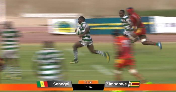 RÉSUMÉ VIDÉO. Rugby Africa Gold Cup. Les ailiers du Zimbabwe font plier le Sénégal