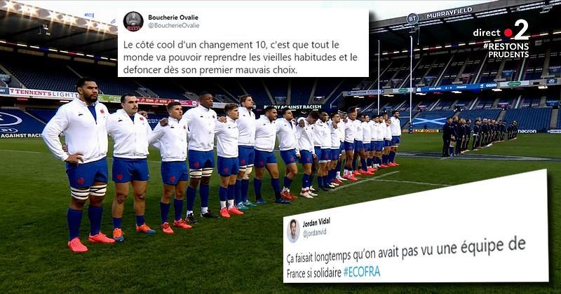 Weir et Jalibert au centre des discussions sur les réseaux sociaux pendant le match des Bleus