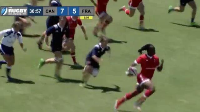Super Series. Les Canadiennes s'imposent contre les Bleues avec un superbe essai de 90 mètres
