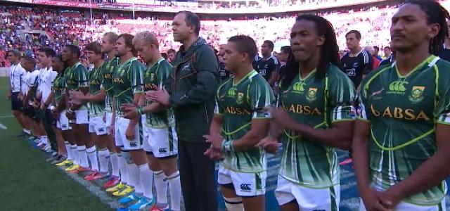 Les joueurs du Port Elizabeth Sevens rendent hommage à Nelson Mandela