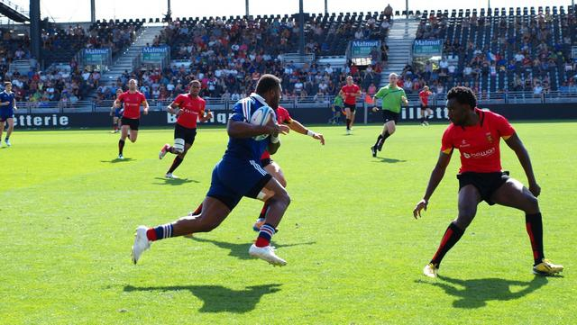 VIDEO. Les essais de l'équipe de France de rugby à 7 au tournoi de Lyon
