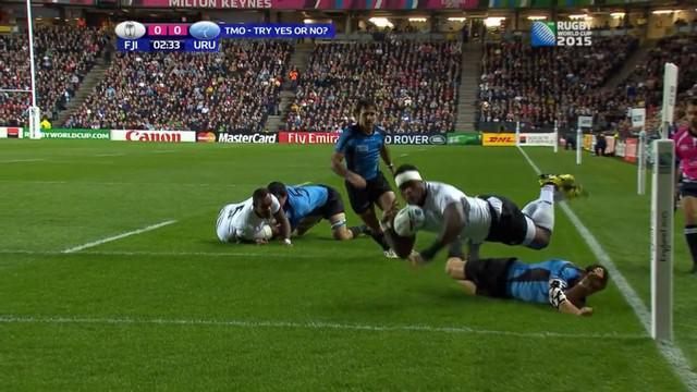 RESUME VIDEO. Coupe du monde. L'Uruguay marque ses premiers essais mais les Fidji déroulent