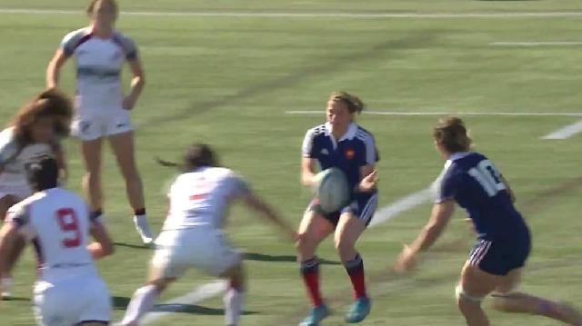 VIDEO. Langford 7s. France 7 féminines se régalent avec 8 passes sur 40m