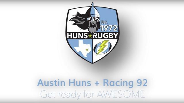VIDEO. Le Racing 92 s'associe avec l'équipe américaine des Austin Huns Rugby