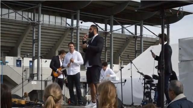 VIDEO. Les joueurs de Colomiers montent sur scène et poussent la chansonnette pour la fin de saison