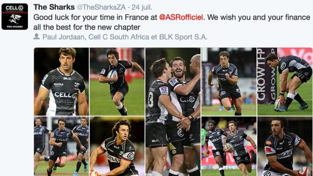 RÉSEAUX SOCIAUX. Les Sharks auraient-ils mal digéré le départ de Paul Jordaan à la Rochelle ?