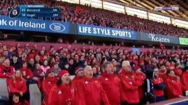 """VIDEO. Champions Cup. Les supporters du Munster reprennent """"Fields Of Athenry"""" acapella"""