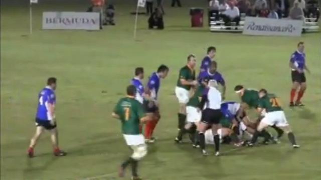 VIDEO. Les vieilles gloires de l'équipe de France face à l'Afrique du Sud lors du World Rugby Classic