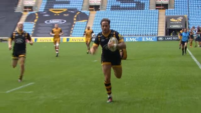 VIDEO. Premiership : les Wasps inscrivent dix essais face à Bristol dans un match de folie (70-22)