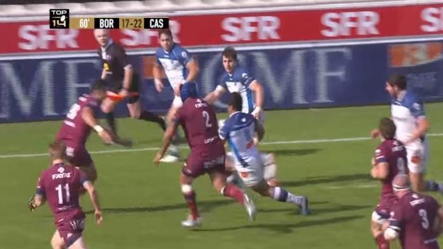 VIDEO. TOP 14 : la folle relance du Castres Olympique pour l'essai de 90 m face à l'UBB