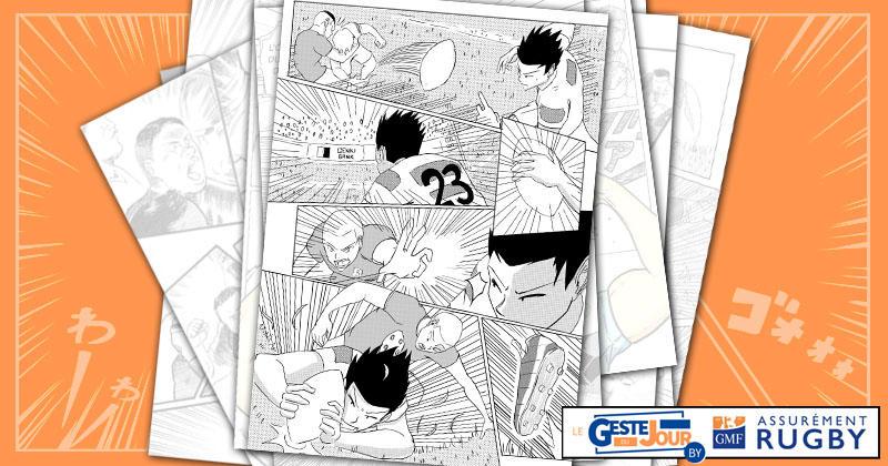 Le geste du jour en Manga : l'essai de Fukuoka pour la victoire du Japon sur l'Irlande