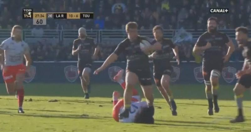 VIDEO. Top 14 - La Rochelle. L'essai exceptionnel de Pierre Bourgarit contre Toulon