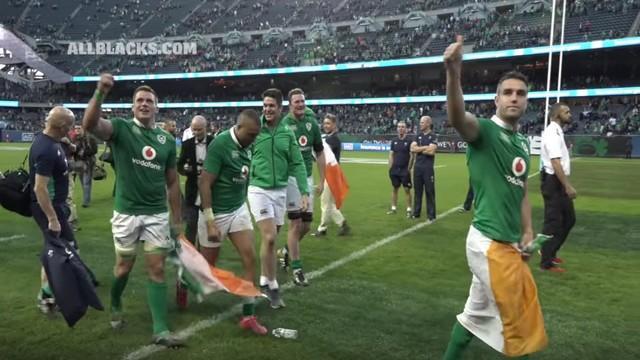 RÉSUMÉ VIDÉO. L'Irlande passe cinq essais aux All Blacks pour une victoire historique