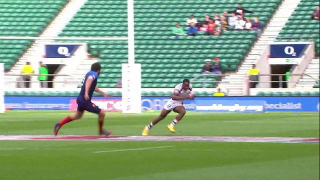 VIDEO. London 7s. Carlin Isles fait l'amour à la défense de l'équipe de France