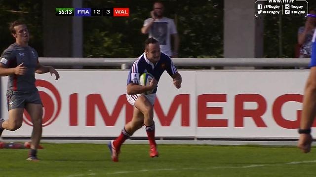 VIDEO. Championnat du monde U20. Les Bleuets plantent un essai de 80m aux Gallois grâce à leurs fusées