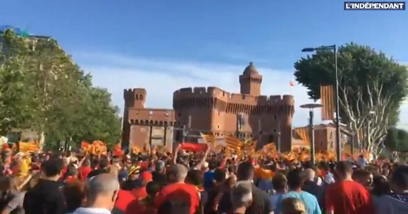 VIDEO. Pro D2 - L'USAP fête son titre avec des milliers de supporters au pied du Castillet