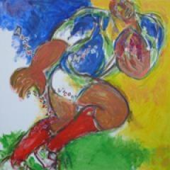 Marine Assoumov peint le rugby
