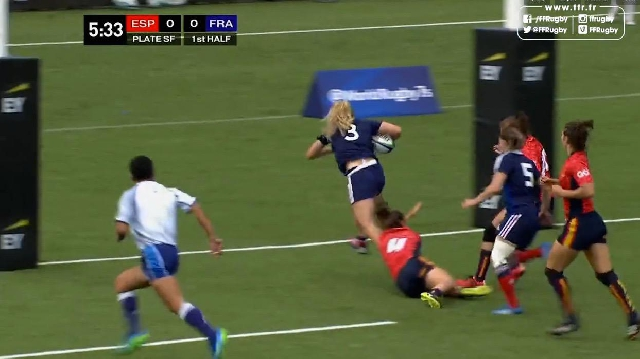 VIDEO. Amsterdam 7s. La puissance de Marjorie Mayans ne suffit pas à qualifier France 7 féminines pour les JO