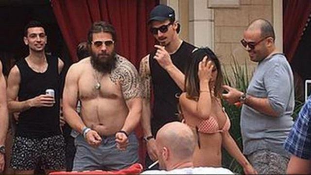 PHOTO. Quand Martin Castrogiovanni part faire la fête à Las Vegas avec les joueurs du PSG