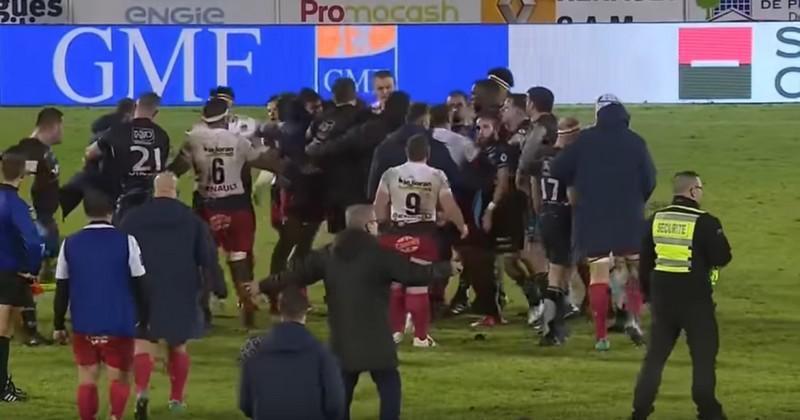 Massy vs Aurillac marqué par des bagarres et des cartons rouges [VIDEO]