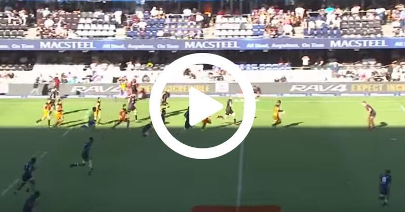 Super Rugby - Accélération et coup de pied par-dessus, le futur parisien Pablo Matera se régale ! [VIDÉO]