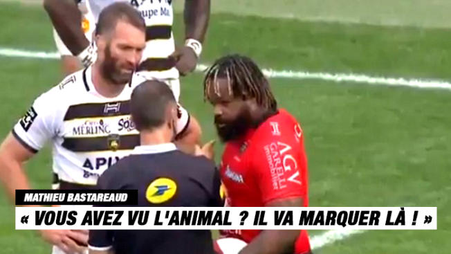 VIDEO. Top 14 - RCT : quand Mathieu Bastareaud interpelle M. Poite sur l'animal Josua Tuisova