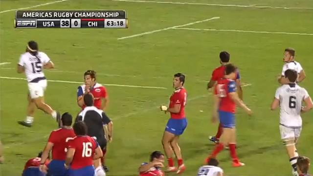 VIDEO. Americas Rugby Championship. Quand la défense du Chili s'arrête et laisse l'arrière des USA marquer en marchant