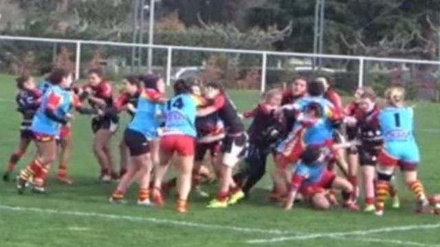 La mise au point des cadettes du Stade Toulousain après la bagarre générale face à l'USAP