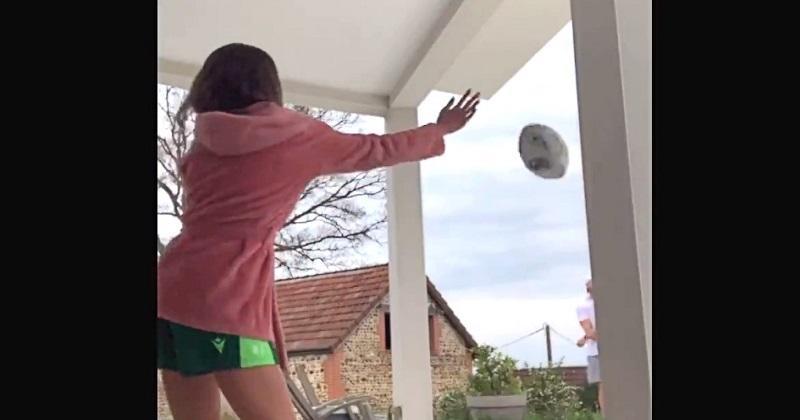 En confinement, la femme de Jesse Mogg s'improvise sparring-partner [VIDÉO]