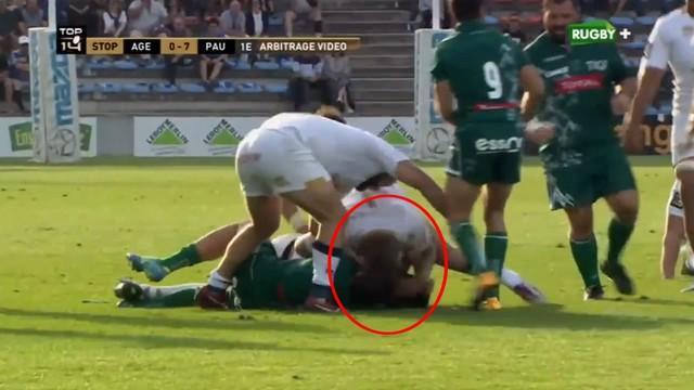 VIDEO. Top 14 - L'Agenais Morgan Phelipponneau a-t-il volontairement donné un coup de tête à Daniel Ramsay ?