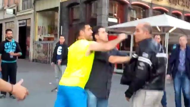 VIDEO. Moscato garde son sang froid dans ce qui aurait pu être une bagarre dans les rues de Lille