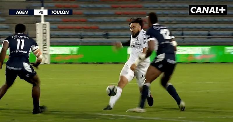 Nonu ne rate pas son retour à Toulon avec une passe au pied inspirée et la victoire bonifiée [VIDEO]