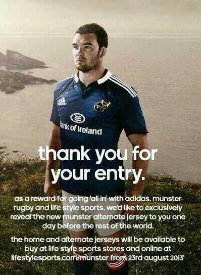 Le Munster emprunte les couleurs du Leinster pour son nouveau maillot