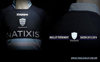 Racing Métro 92 : les nouveaux maillots pour la saison 2013-2014