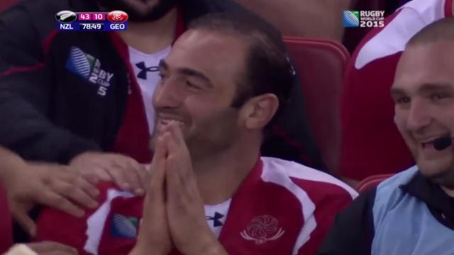VIDEO. Coupe du monde. All Blacks - Géorgie : la réaction émouvante de Mamuka Gorgodze, élu homme du match