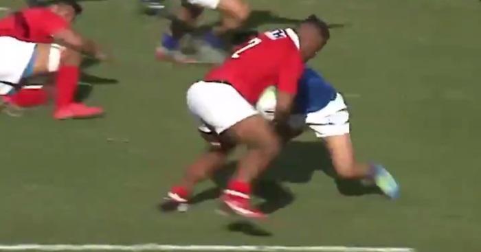 VIDEO. PACIFIC NATIONS CUP : le superbe offload au contact de Paula Ngauamo face aux Samoa