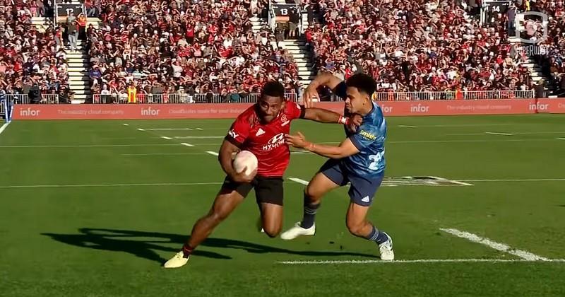 VIDEO. Super Rugby. Pas de l'oie, raffut dans les dents, Sevu Reece a fait la totale à son adversaire
