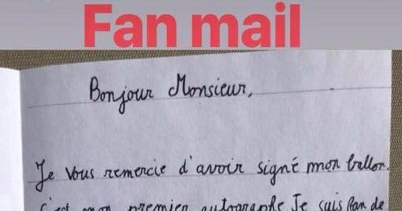 PHOTO - Insolite : la géniale et hilarante lettre d'un jeune fan reçue par Dan Carter