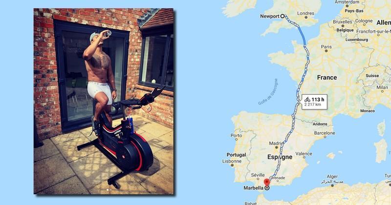 Plus de 2000 km à vélo en 4 jours, le défi fou de 7 joueurs de Newport pour la bonne cause