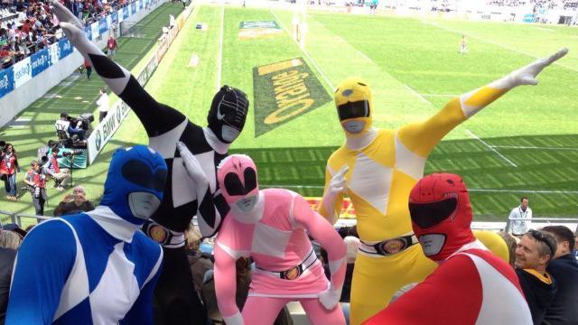 Venus faire la fête au Paris 7s, les Power Rangers ont vécu une drôle de mésaventure
