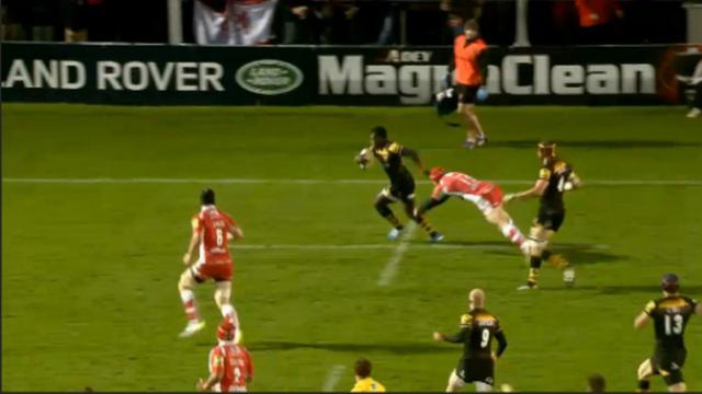 RESUME VIDEO. Premiership : Les débordements explosifs de Christian Wade des London Wasps face à Gloucester