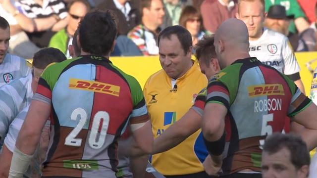 VIDEO. Premiership - Joe Marler chambre l'arbitre Andrew Small à propos de ses chaussures