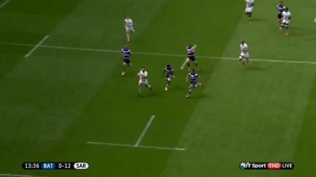 VIDEO. Premiership. Le talonneur Jamie George dépose les 3/4 de Bath pour l'essai