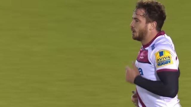 VIDEO. Premiership - Danny Cipriani régale avec un coup de pied par-dessus pour l'essai de Johnny Leota