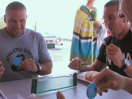 Préparation de Racing vs Biarritz